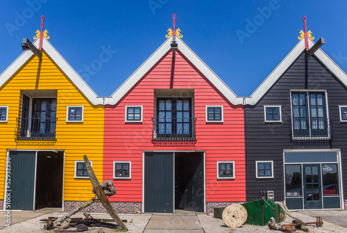 Colorful houses of Zoutkamp