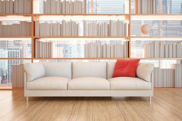 divano e libri
