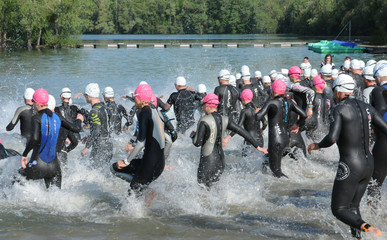 France, a triathlon in Verneuil sur Seine