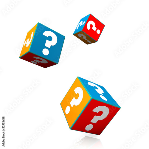 Colorful Question Cubes