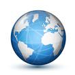Glossy globe icon