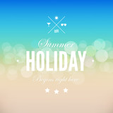 Summer beach background in vintage retro style. Vector. Editable