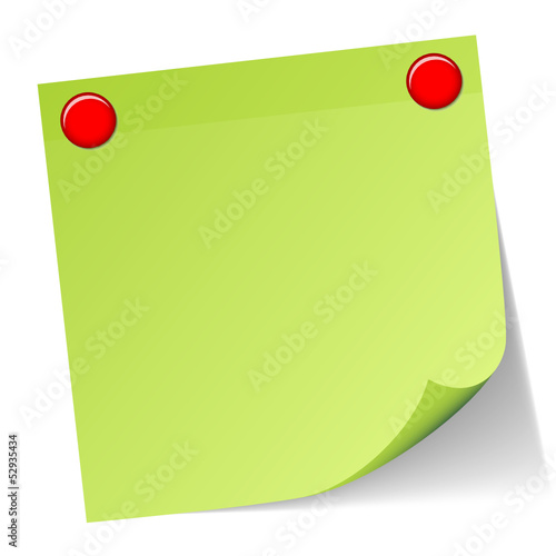 Green Stick Note Red Magnets