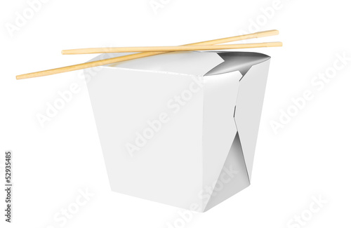 Blank Chinese food container