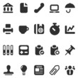 20 icons business in black set 2