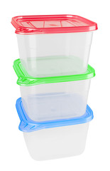 Plastic container for food