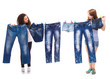 Fashionable jeans wear