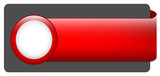 BLANK web button (rectangular red icon arrow click here)