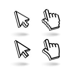Pixel cursors icons