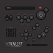 Black Web UI Elements. Buttons, Switches