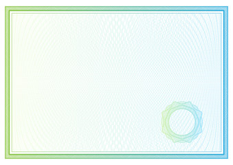 Certificate. Vector pattern for currency, diplomas