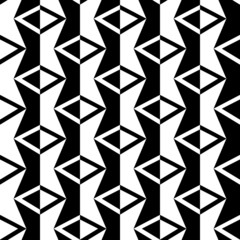 Abstract black and white background, seamless pattern