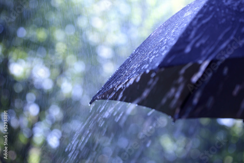 Rain on umbrella - 52938891