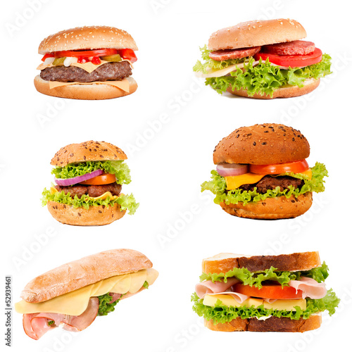 Sandwich and hamburger