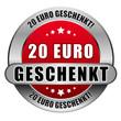 5 Star Button rot 20 EURO GESCHENKT DTO DTO