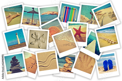 summer on the beach collage