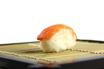 The Tuna Sushi on the dish.