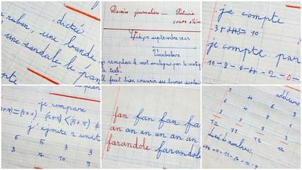 montage d'école français et mathématiques