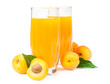 apricot juice over white