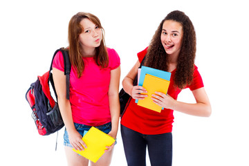 Expressive teenage friends