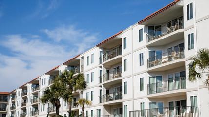 Balconies on Tropical Coastal Condos