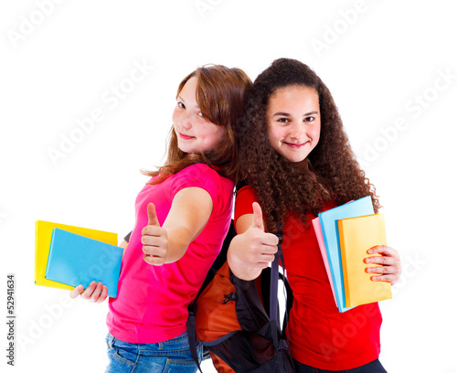 Successful teens with books