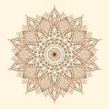 Fototapety Mandala. Beautiful hand-drawn flower.