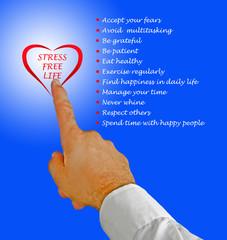 Stress free lifestyle tips