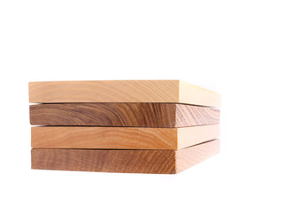 Four horizontal boards (elm, acacia, lime, oak)