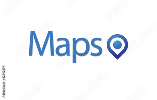 Maps, blue Pointer and Business Strategymaps,