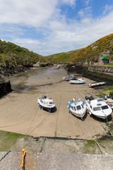 Porthclais harbour low tide Pembrokeshire