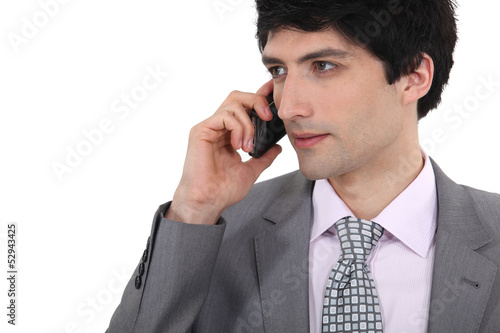 Businessman taking a call on his mobile