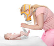 Diaper changing - hygiene concept.