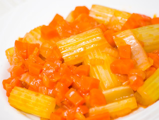 celery with carrot and onion