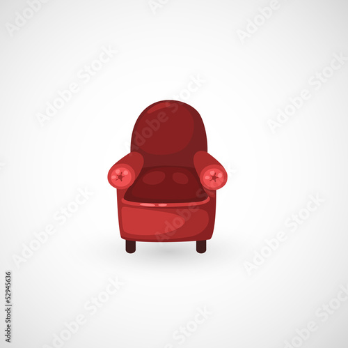 illustration of isolated red armchair vector