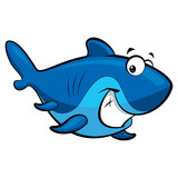 Cartoon smiling shark