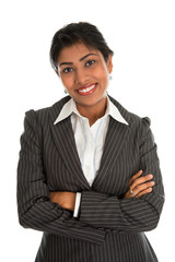 Indian business woman arms crossed