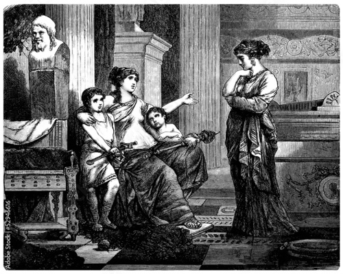Scene Ancient Rome : Patrician Family at Home