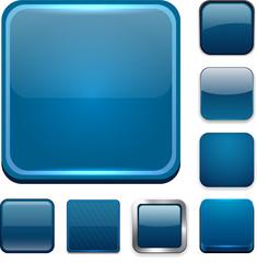 Square dark blue app icons.