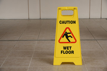 Warning Sign Of Wet Floor