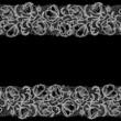Horizontal Seamless Pattern white Lace