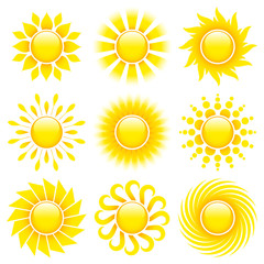 Set Of Sun Icons