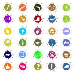 diverse Buttons, Icons,Symbole für Handwerker