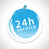24h service icon button