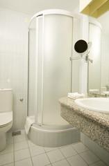bathroom shower toilet interior  Ljubljana Slovenia Europe