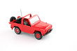Red toy jeep