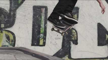 Skateboarder Slow Motion Board Trick