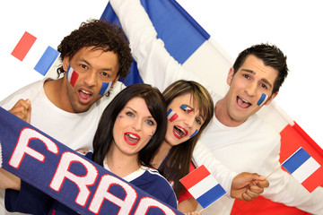 french soccer supporters