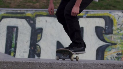 Skateboarder Slow Motion Trick