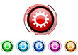 gears vector glossy web icon set